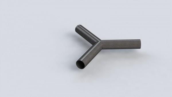 CFK Y-Rohrstück